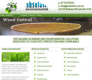 Website for Gold Coast marine and environment company