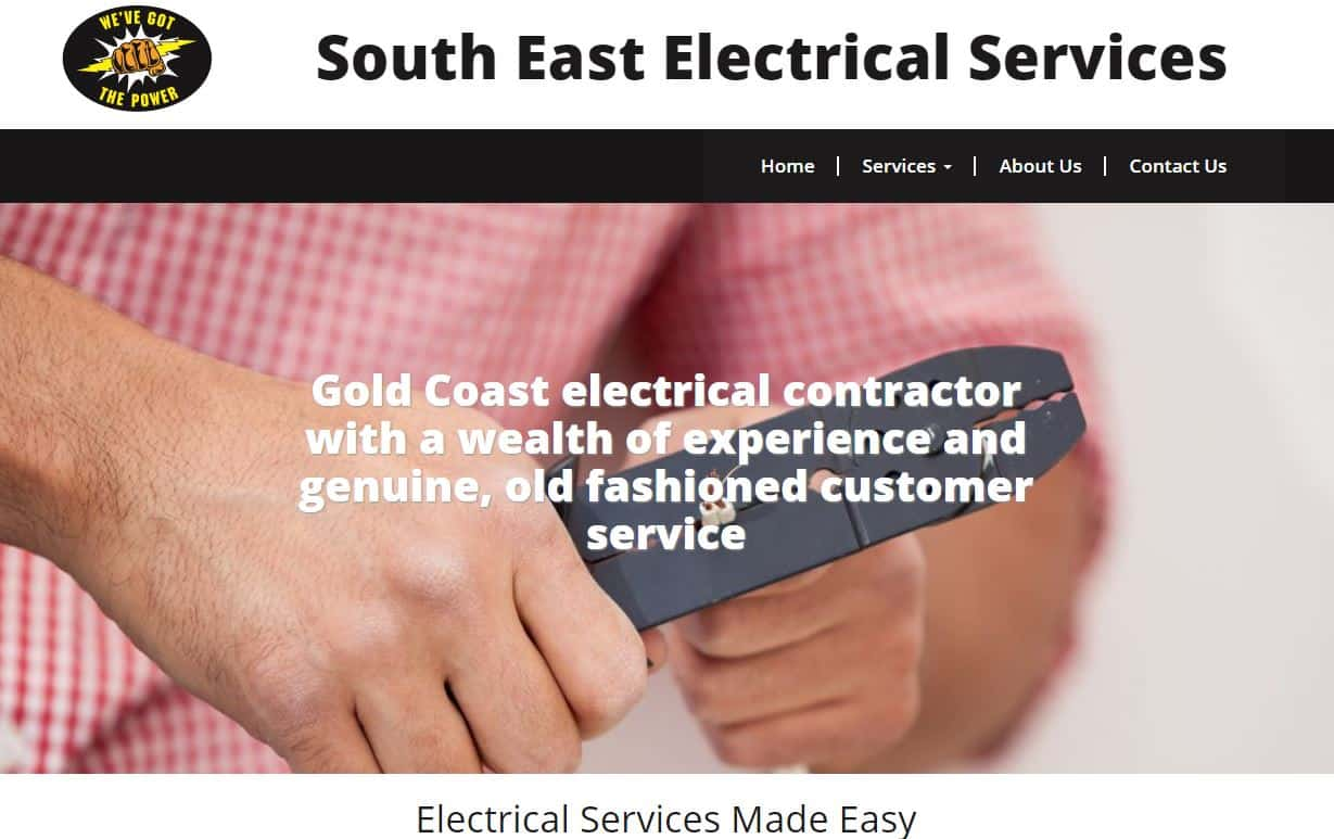 Gold Coast Electrical Services Website